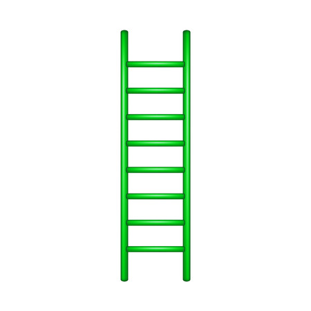 wooden stairs: Wooden ladder in green design Illustration