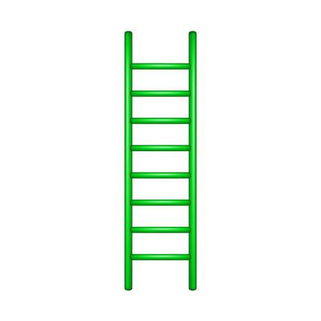 rung: Wooden ladder in green design Illustration
