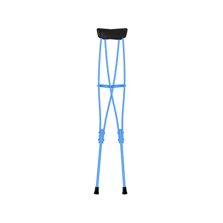 physical impairment: Retro crutches in blue design