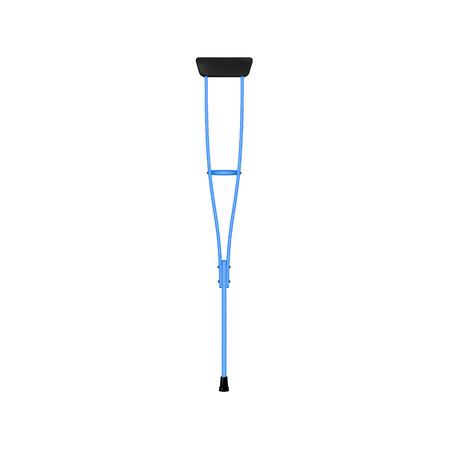 crutch: Retro crutch in blue design Illustration