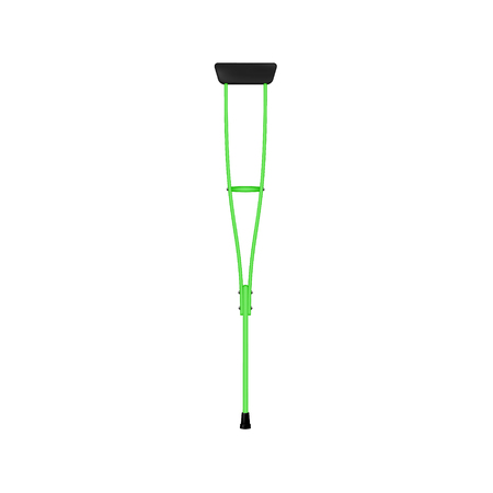 assist: Retro crutch in green design