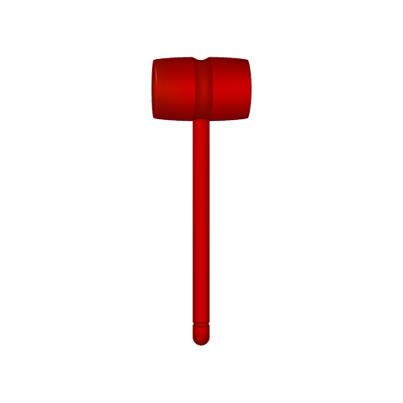 hammers: Wooden mallet in red design