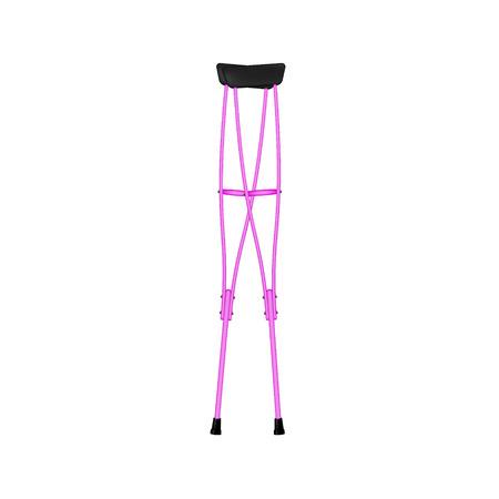crutches: Retro crutches in pink design Illustration