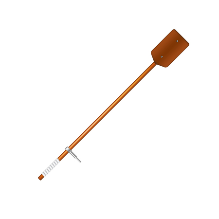 oar: Old oar in brown design
