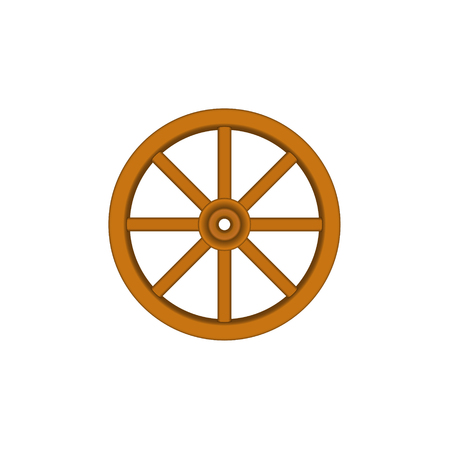 Vintage houten wiel in bruin ontwerp