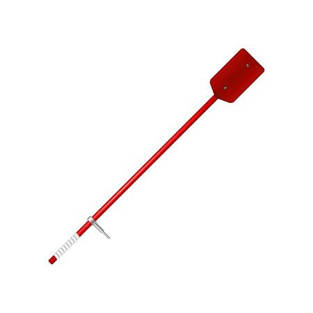 oar: Old oar in red design