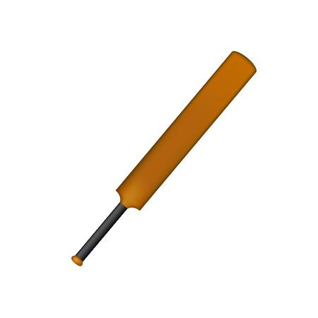 crickets: Wooden cricket bat in vintage design