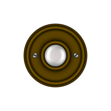 door bell: Doorbell in vintage design