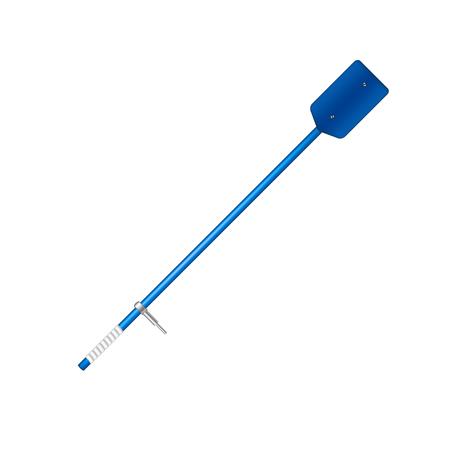 oar: Old oar in blue design