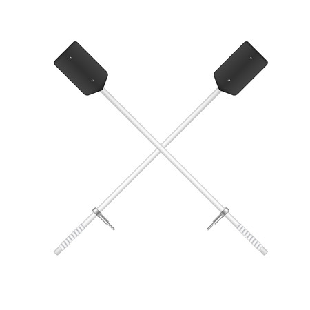 crossed: Two crossed old oars in black and white design