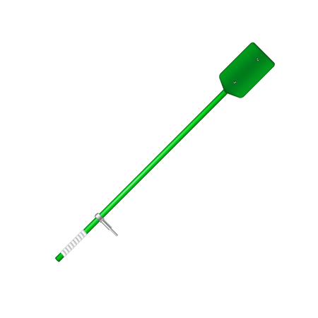 oar: Old oar in green design