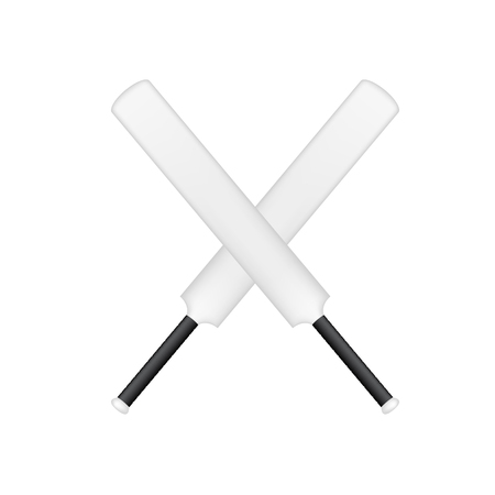 rival: Crossed cricket bats in black and white design