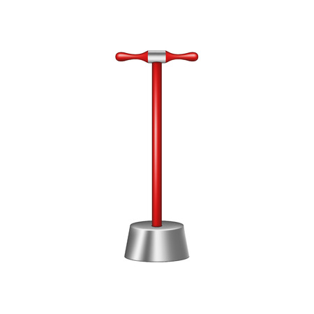 devastate: Big pestle with red wooden handle Illustration