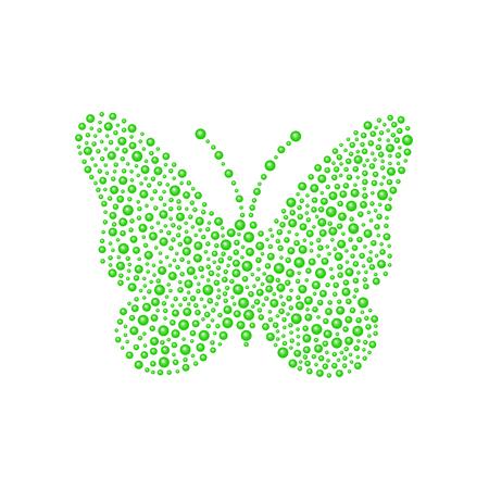 green butterfly: Butterfly in green design