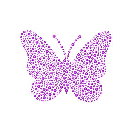 Butterfly in purple design