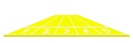 track and field: Running track in yellow design