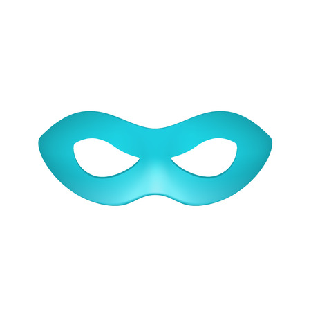 decoration decorative disguise: Eye mask in turquoise design
