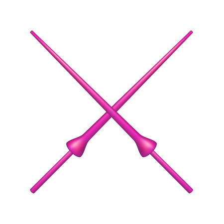 chivalry: Two crossed lances in pink design
