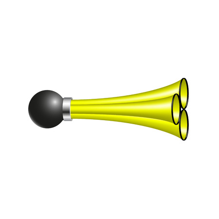 cuernos: bocina de aire triple en el diseño amarillo