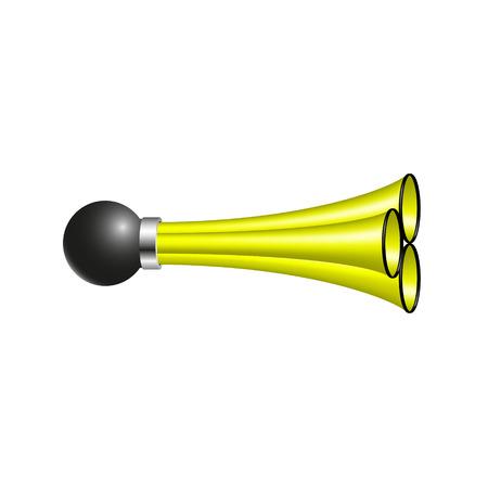 triple: Triple air horn in yellow design