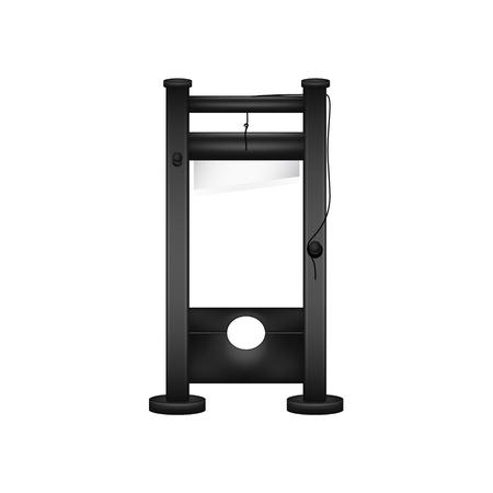 guillotine: Guillotine in black design