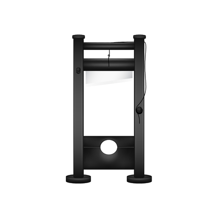 Guillotine in black design