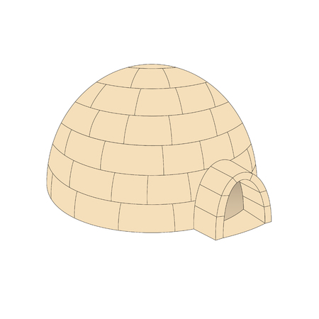 light brown: Igloo in light brown design Illustration