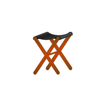 Folding wooden chair in retro design