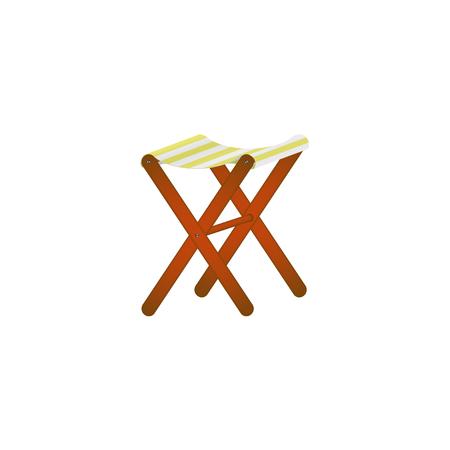 Folding wooden chair in retro design