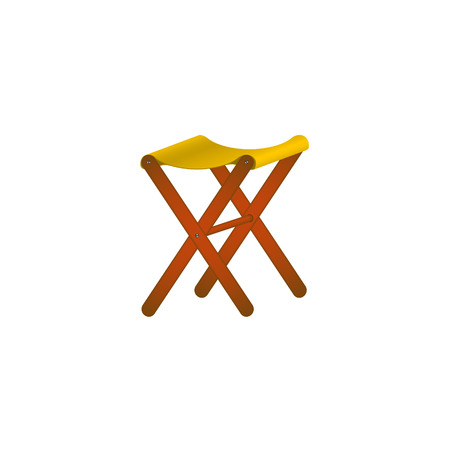 wooden chair: Folding wooden chair in retro design