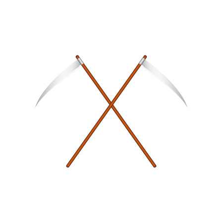 Two crossed scythes