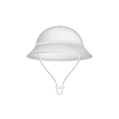 pith: Pith helmet in white design