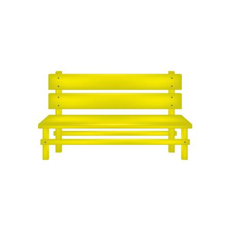 Rural bench in yellow design