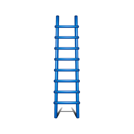 white achievement: Wooden ladder in blue design with shadow leading up Illustration