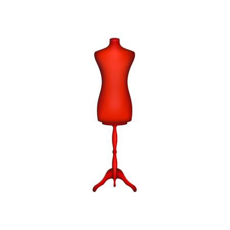 Forme vintage en forme rouge Banque d'images - 81483511