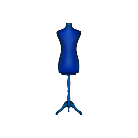 Vintage dress form in blue design