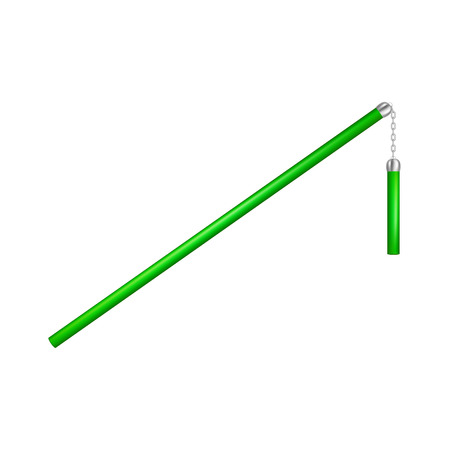 Flail in green design.