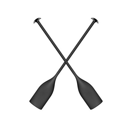 Two crossed paddles in black design