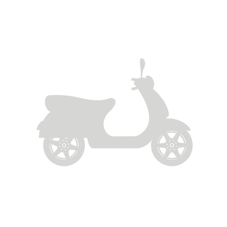 Silhouette of scooter in gray design illustration.