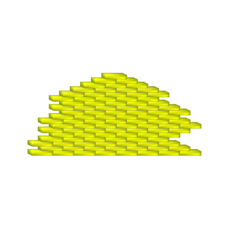 Brick wall in yellow design