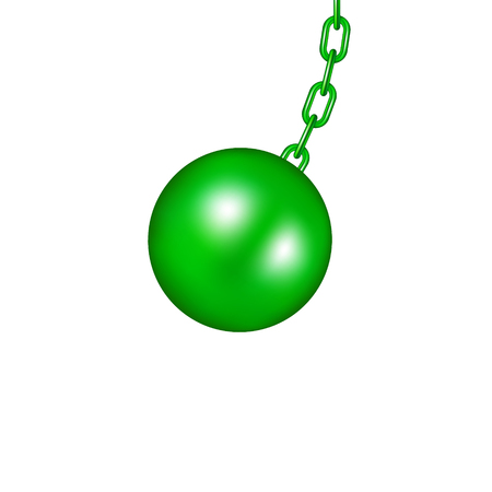 Wrecking ball in green design