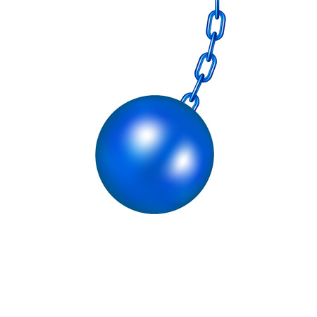 Wrecking ball in blue design