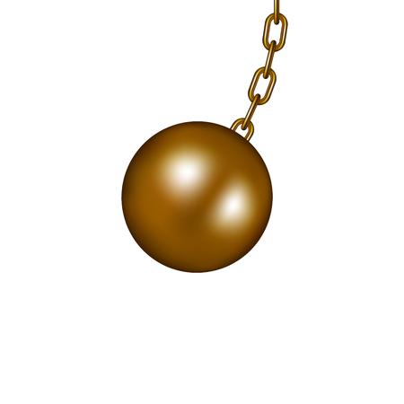 Sloopkogel in bruin design Vector Illustratie