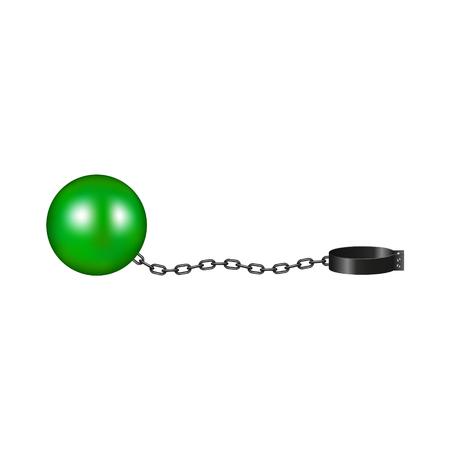 Vintage shackle in green and black design