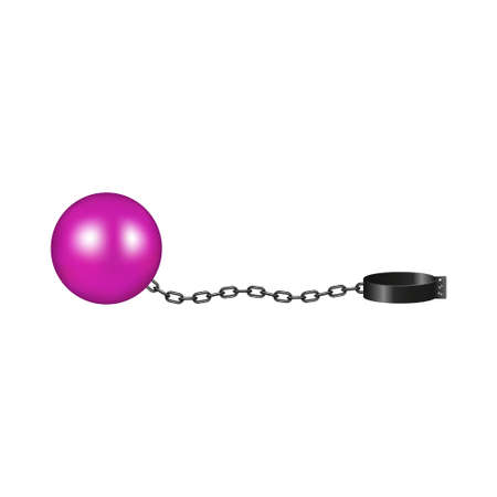 Vintage shackle in pink and black design