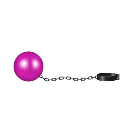 Vintage shackle in pink and black design