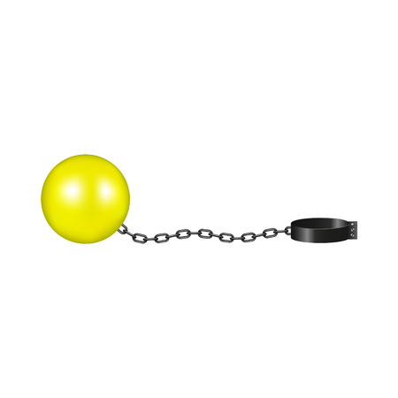 Vintage shackle in yellow and black design