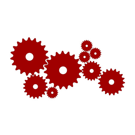 Gears in red design