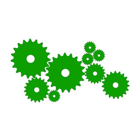 Gears in green design Illustration
