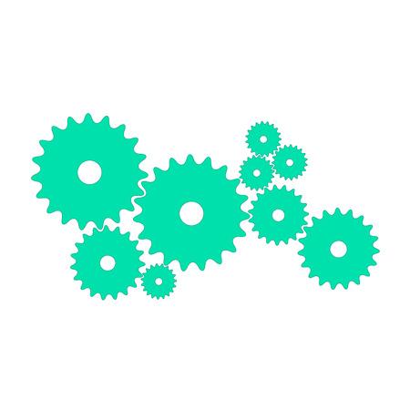 Gears in cyan design
